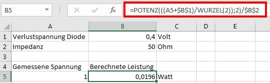 Excel-Formel