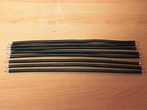 Acht fertige Koaxstücke für die 70cm Colinear Antenne
