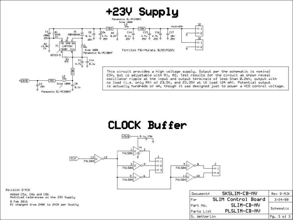 MSA Control Board - 23V Supply