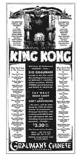Gaurman's King Kong Advertisement