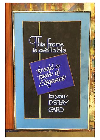Vintage Display Card-American Sign Museum