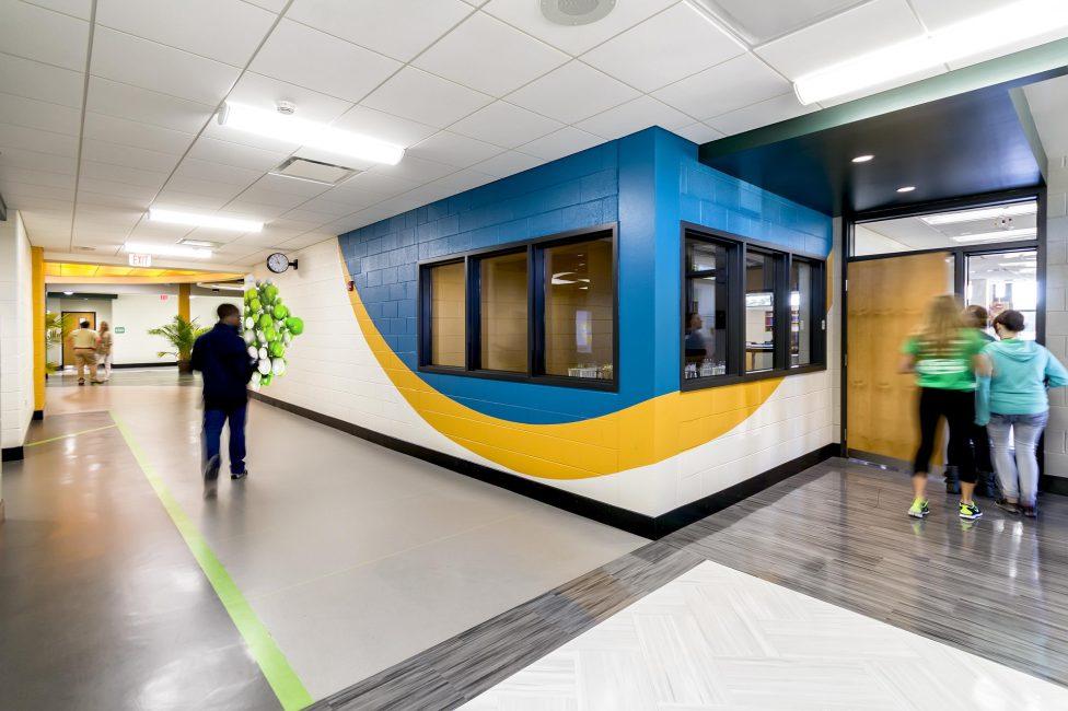 Open and inviting corridor