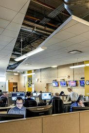 Open office plan to encourage collaboration and creativity.