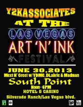 """SUN 6/30 in Vegas 12-6pm- Art """"N"""" Ink Festival + Meet & Greet with YDMC, DLabrie,Madman, Y2K (Grind and Relax Tour)"""