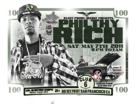 Philthy Rich, DLabrie , Bleev Promo at Club 6 in SF