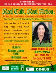 Sunday, October 21st in San Jose (6-9pm)