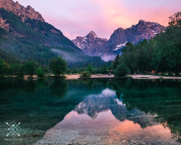 plakat fotograficzny Słowenia Jezioro Jasna