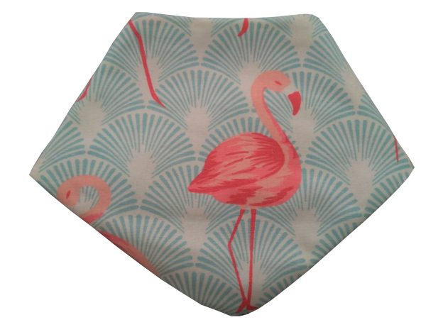 babador bandana estampado flamingo