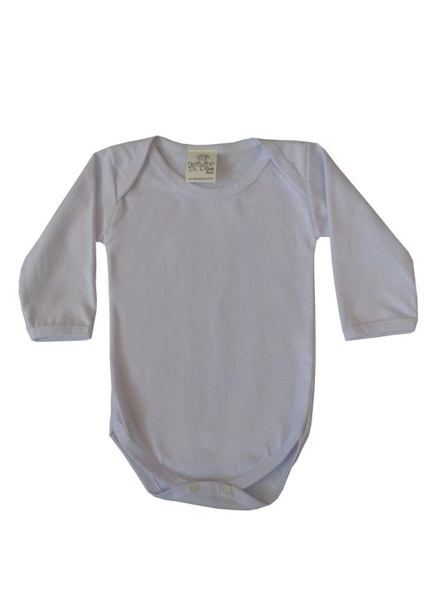 body infantil manga longa branco