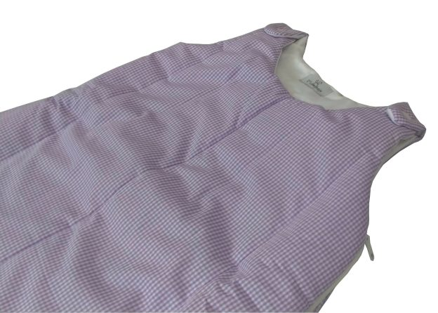 saquinho de dormir xadrez lilás