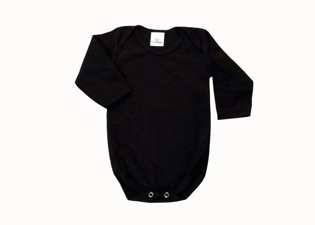 body bebê manga longa preto