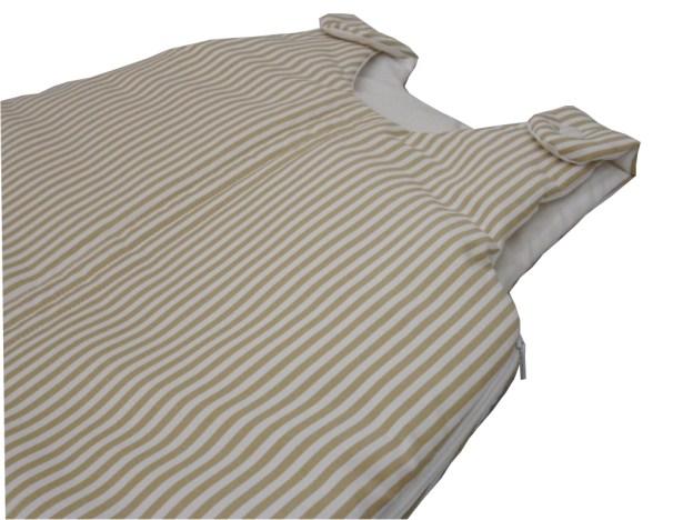 saquinho de dormir infantil listrado bege