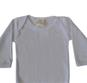body infantil manga longa branca