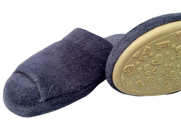 chinelo de quarto azul índigo com sola antiderrapante