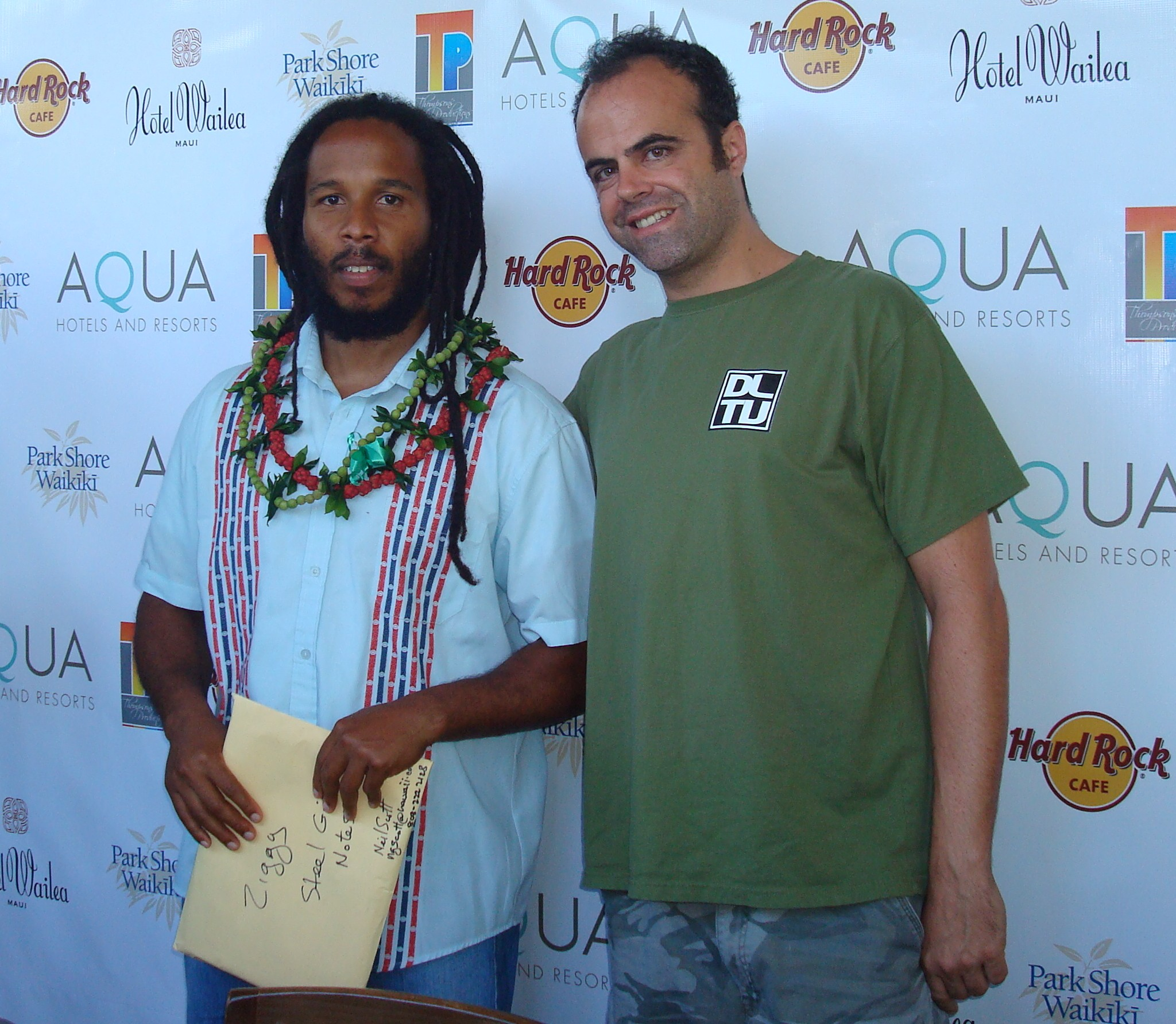 Ziggy Marley with Dave Lawrence August 15 2009
