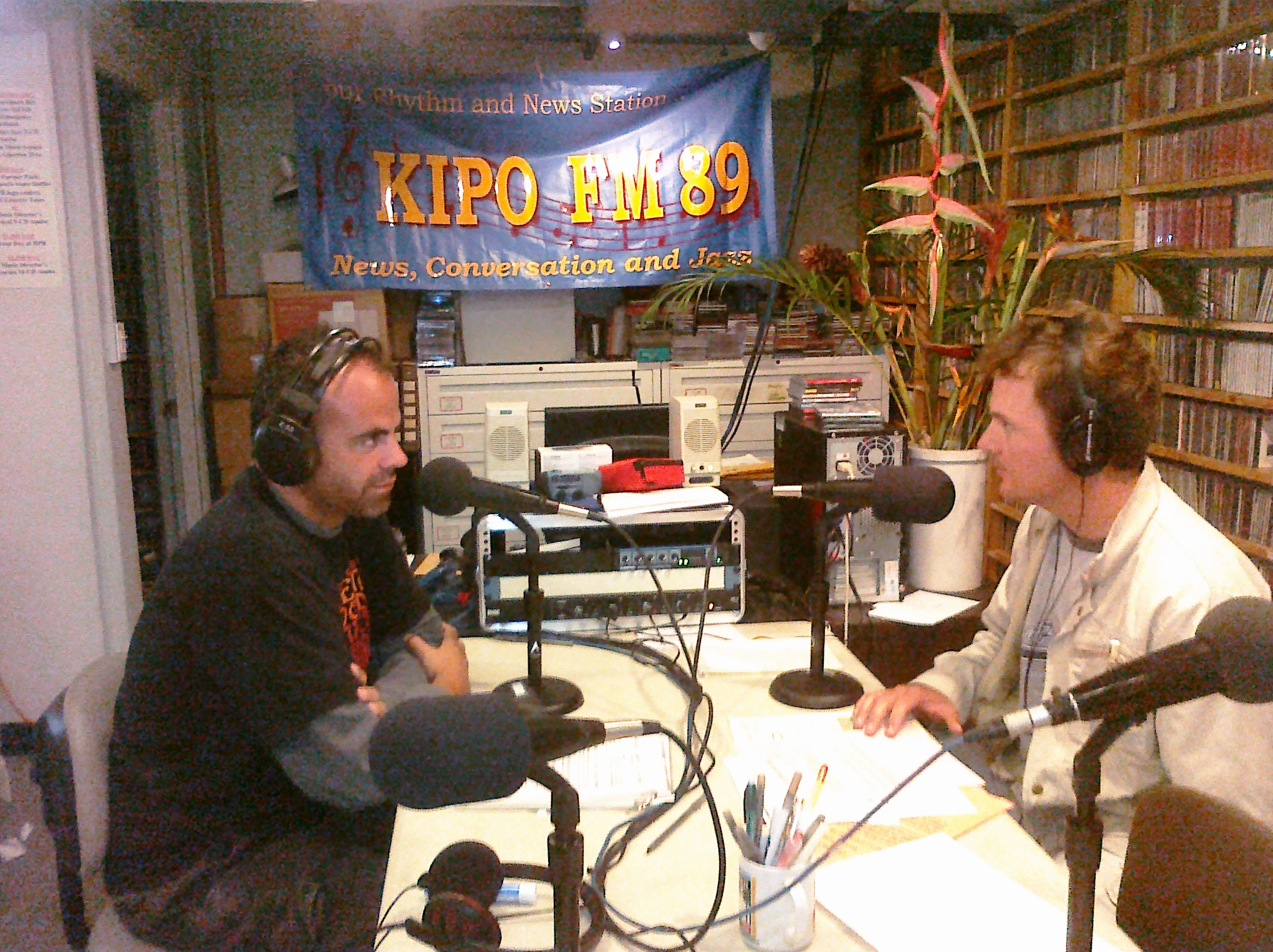 Dave at HPR pledge drive 2009 1