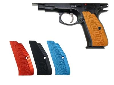 CZ Low Profile Grips, Orange anodized Aluminum