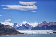 First glimpse of the monstrous glacier at Calafate