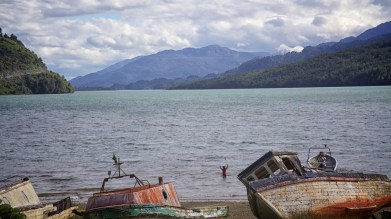 One is never far from the sea in Chilean Patagonia, as the average width of the country is just 100 miles. Nowhere is this more true than in the south, where the landscape is a fractured mosaic. Lots of salmon here in addition to the stout rainbow and brown trout.