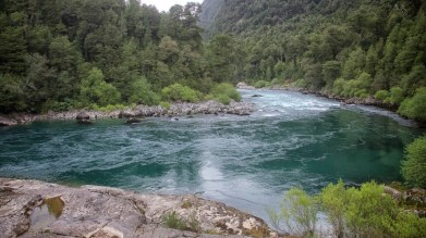 Typical Andean river. Strong, swift, otherworldly.