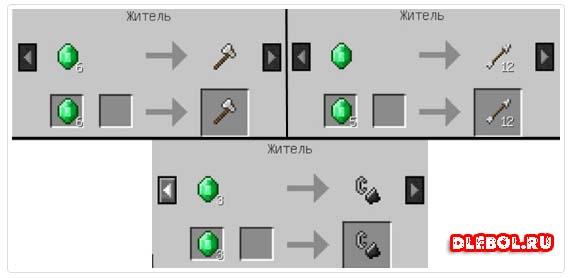 Emerald Exchange for en beboer i minecraft