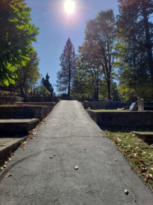 the walk in the cementary
