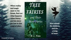 Tree Fairies and Their Short Stories cover within a tree background and a fairy.