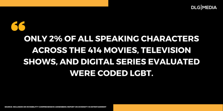 Quote - Lack of diversity in Media and entertainment - LGBT
