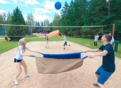 Gigantskii voleibol igra blinami