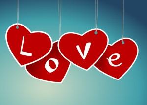 Valentine hearts saying love (2)