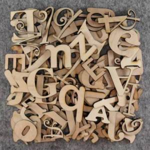 10cm high individual wooden letters