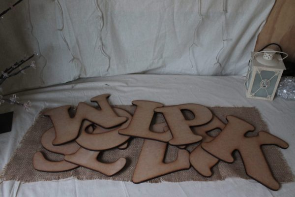 individual wooden letters
