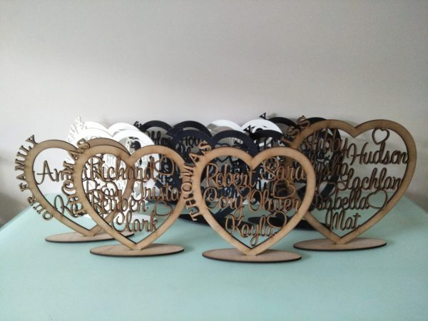 Personalised Wooden Family Heart 5