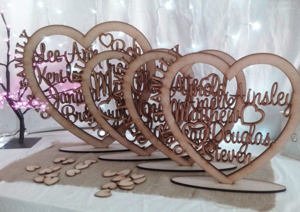 Personalised Wooden Family Heart