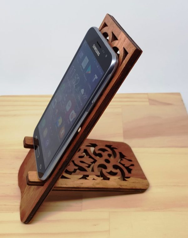 Wooden Phone Stand iPhone Samsung Smartphone 1