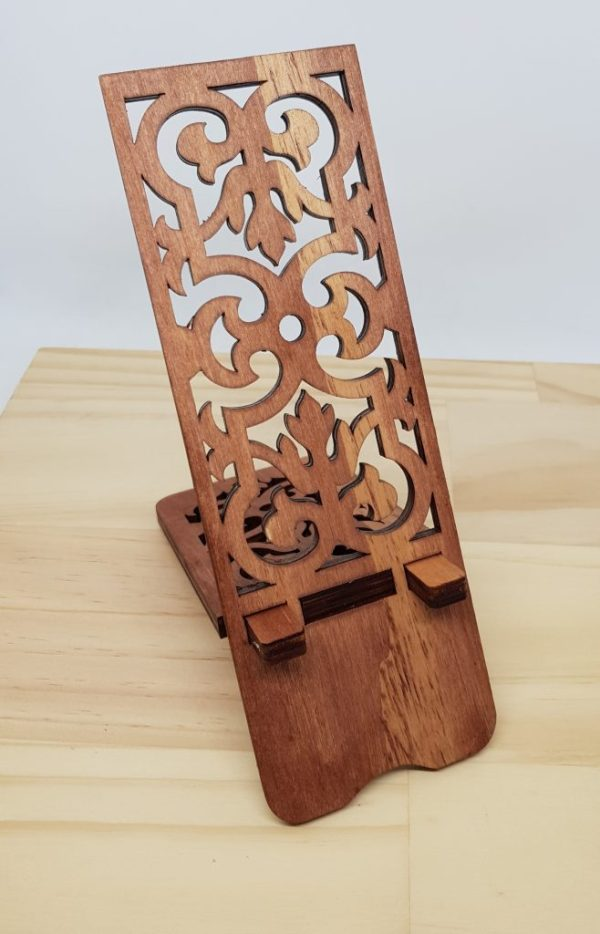 Wooden Phone Stand iPhone Samsung Smartphone 3