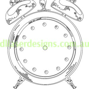 Alarm Clock 3D Illusion Vector File