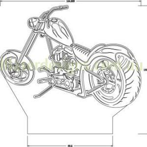 Motorcycle Chopper 3D Illusion Vector File