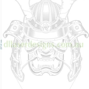Samurai Skull 3D Illusion Vector File