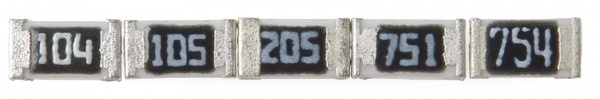 Examples of E-24 marked SMD resistors