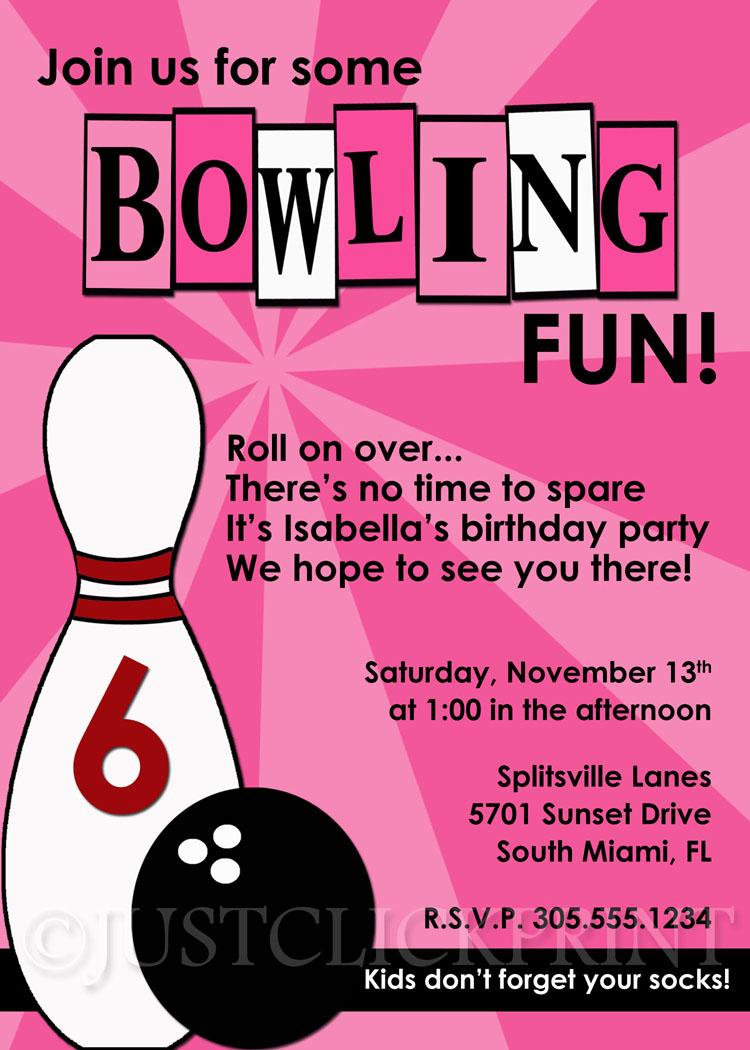 girls bowling fun birthday photo
