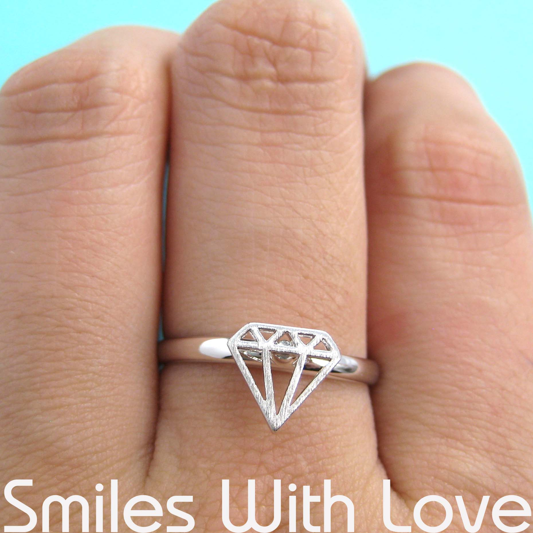 Adjustable Diamond Cut Out Ring In Silver Dotoly Animal