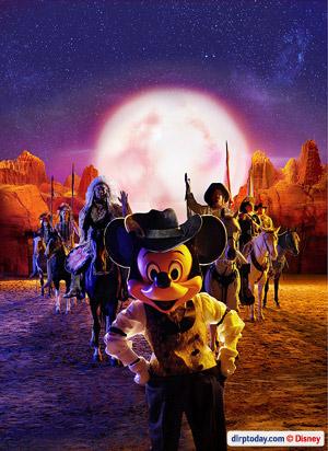 Mickey in Buffalo Bill's Wild West Show
