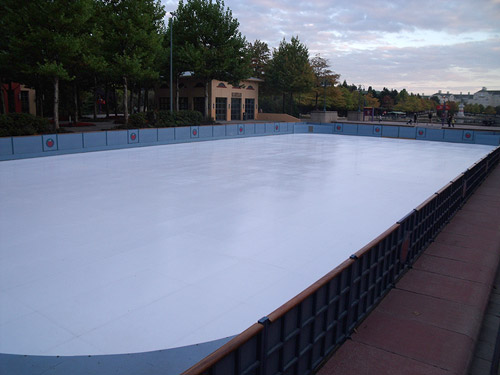 Rockefeller rink at Hotel New York goes synthetic