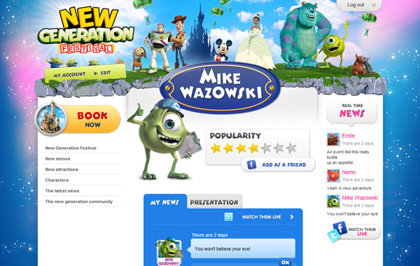 Disney New Generation Festival website