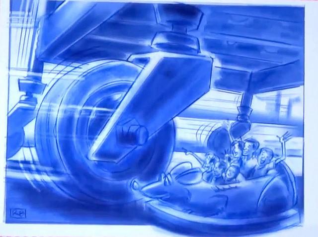 Ratatouille: The Ride - Disneyland Paris - Concept Art Models Construction