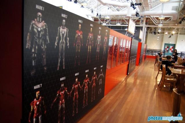 Iron Man room at Disney Blockbuster Cafe