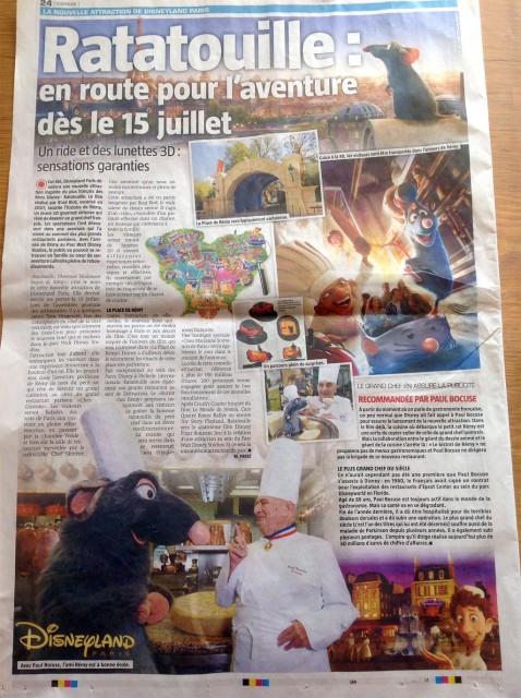 Ratatouille Disneyland Paris ride opening date