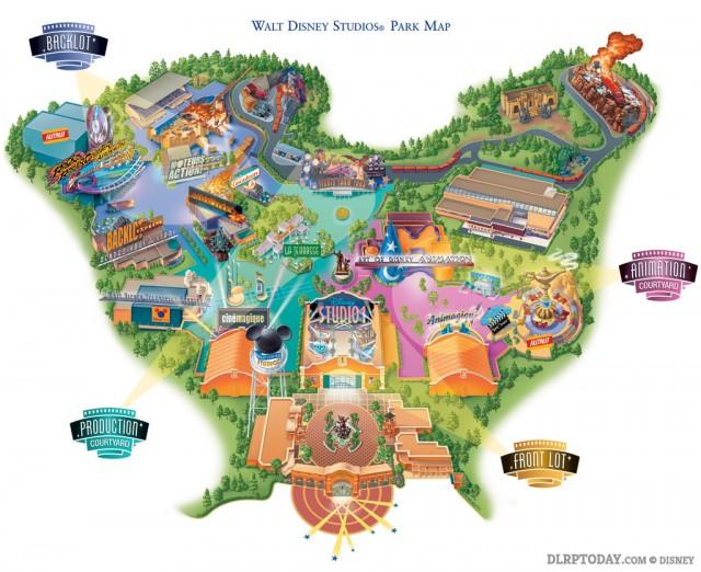 Walt Disney Studios Park 2003 Map Disneyland Paris