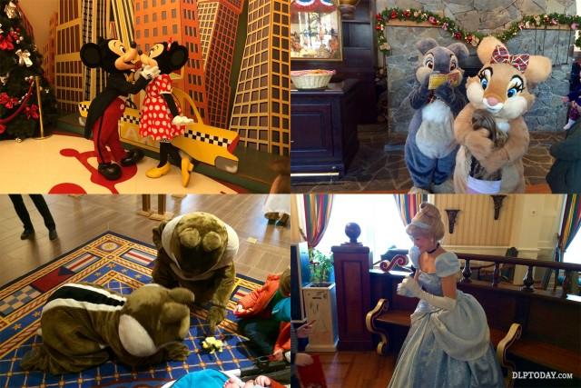 Disneyland Paris characters visit hotels during park closures